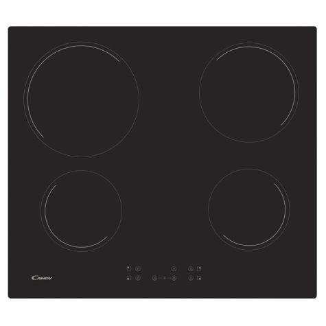 Candy CC64CH Ceramic Hob 4 Cooking Zones Touch Control 59cm Black