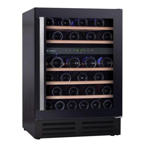 Candy CCVB60DUK Wine Cooler Freestanding 46 Bottle Stainless Steel