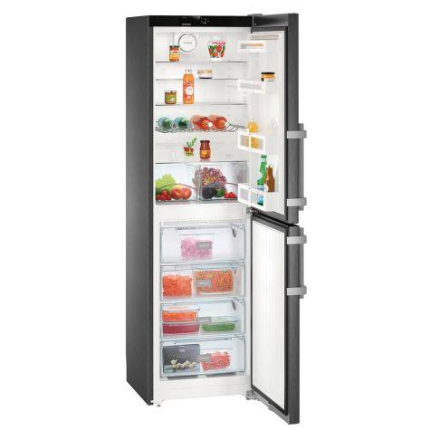 Liebherr CNbs3915 Fridge Freezer Freestanding 340 litre A++ BlackSteel