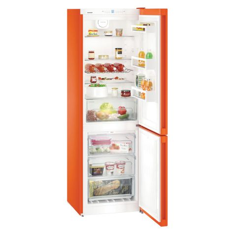 Liebherr CNno4313 Fridge Freezer NoFrost Freestanding 304L Neon Orange