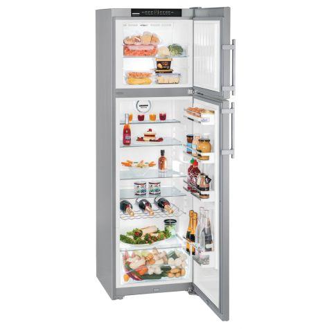 Liebherr CTNesf3663 Fridge Freezer Freestanding Premium NoFrost Silver