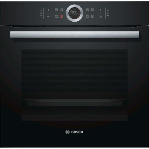Bosch Serie 8 HBG674BB1B Built In Oven Electric Single 71 litre Black