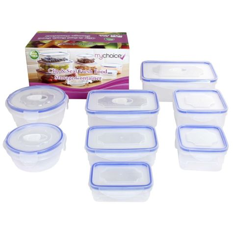 MyChoice Clip & Seal Fresh Food Storage Container 8 Sets