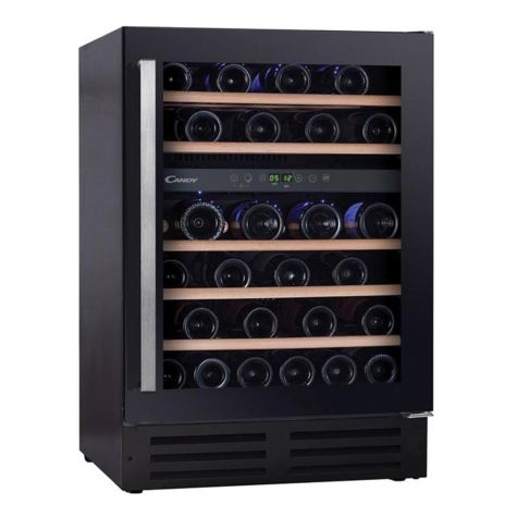 Candy CCVB60DUK Wine Cooler Freestanding 46 Bottle Stainless Steel