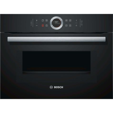 Bosch Serie 8 CMG633BB1B Built In Oven Compact with Microwave Black