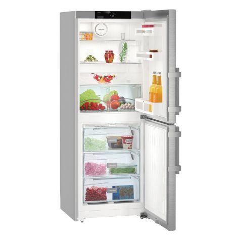 Liebherr CNef3115 Fridge Freezer Freestanding NoFrost 260 litre Silver