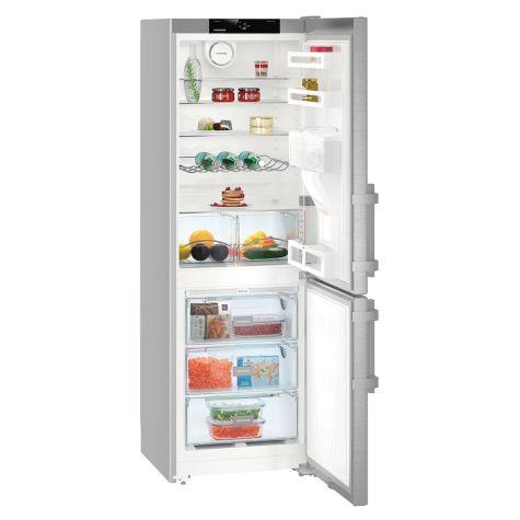 Liebherr CNEF3535 Fridge Freezer Freestanding NoFrost 305 Litre Silver