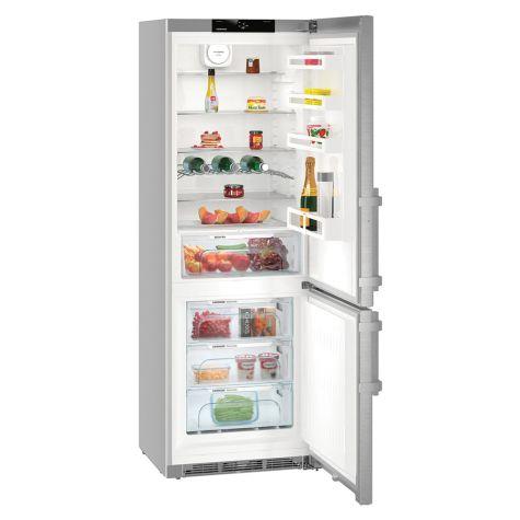 Liebherr CNEF5715 Fridge Freezer Freestanding NoFrost 402 Litre Silver