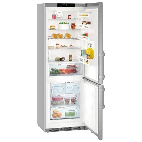 Liebherr CNef5725 Fridge Freezer Freestanding NoFrost 397 litre Silver