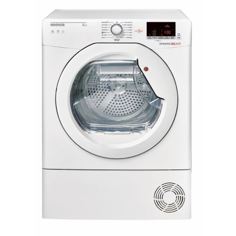 Hoover DXC8DE Tumble Dryer Condenser White 8kg Sensor B Energy Rating