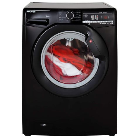 Hoover DXOA68LB3B Freestanding Washing Machine, 8kg Load, A+++ Energy Rating, 1600rpm Spin, Black
