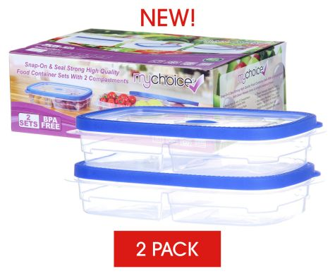 MyChoice Snap-On And Seal Strong High-Quality Food Storage And Meal Prep Containers - 2 Sets