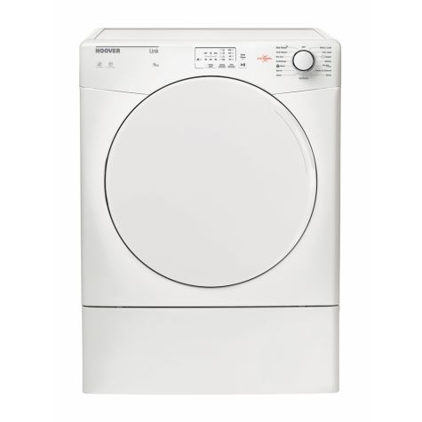Hoover HLV9LF Tumble Dryer Freestanding Vented Sensor Dry 9kg White