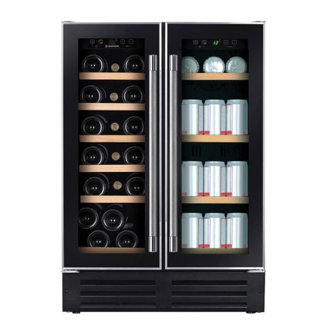 Hoover HWCB60DUK Wine Cooler Freestanding 38 Bottle 60cm Black