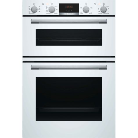 Bosch Serie 4 MBS533BW0B Built In Oven Electric Double White