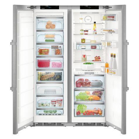 Liebherr SBSes8773 635L NoFrost Freestanding American Fridge Freezer