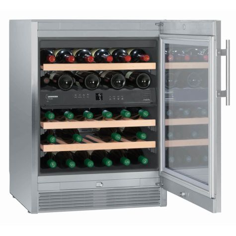Liebherr WTes1672 Wine Cooler Vinidor 34 Bottles 38dB Stainless Steel