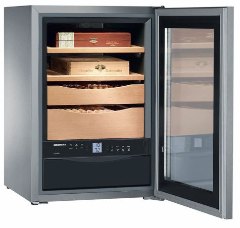 Liebherr ZKES453 Humidor Cigar Storage Unit Glass Door Stainless Steel