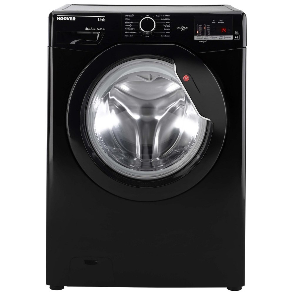 Hoover DHL1482DBB Washing Machine Freestanding 1400rpm 8kg A+++ Black