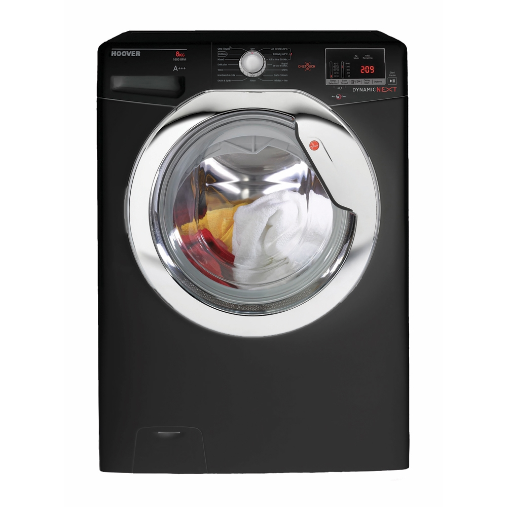 Hoover DXOC68AC3B Washing Machine Glossy Black 8kg 1600rpm A+++ Energy
