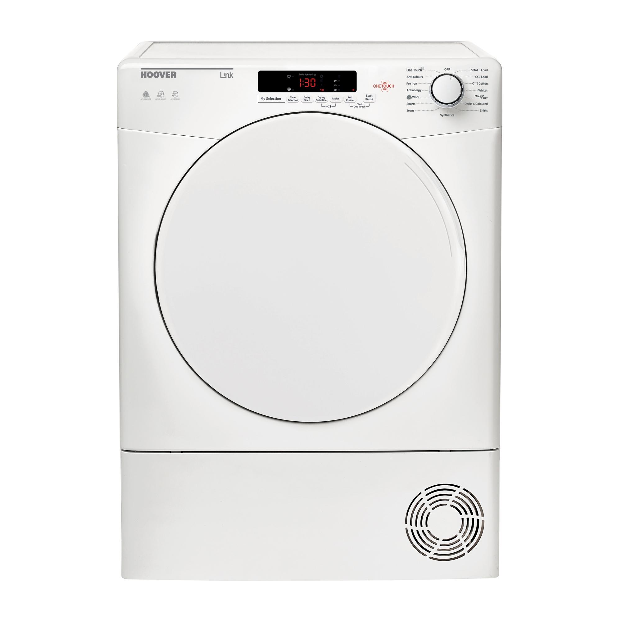 Hoover HLC8DF Tumble Dryer Condenser White 8kg Sensor B Energy Rating
