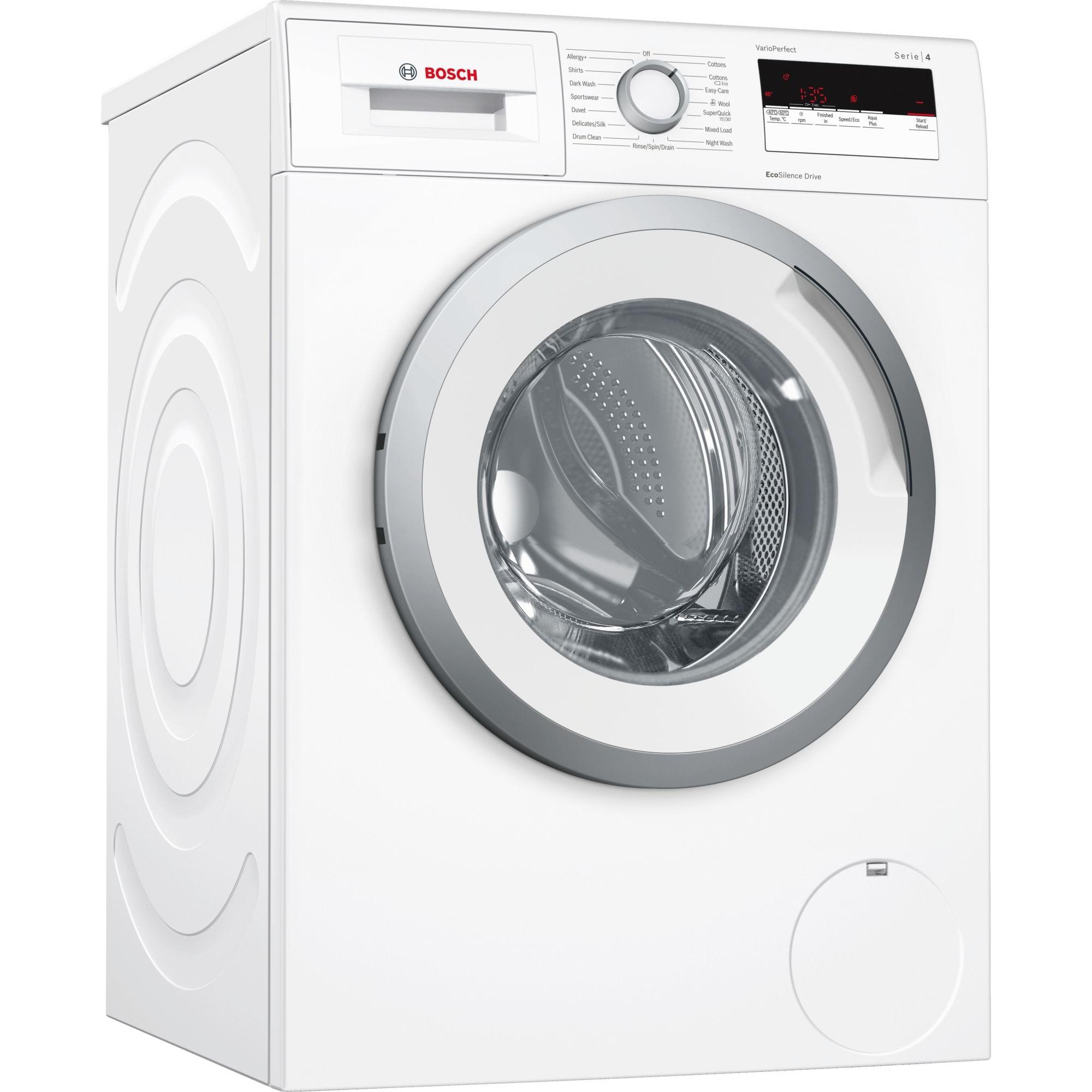 Bosch Serie 4 WAN28108GB Washing Machine White 8kg Load A+++ Energy