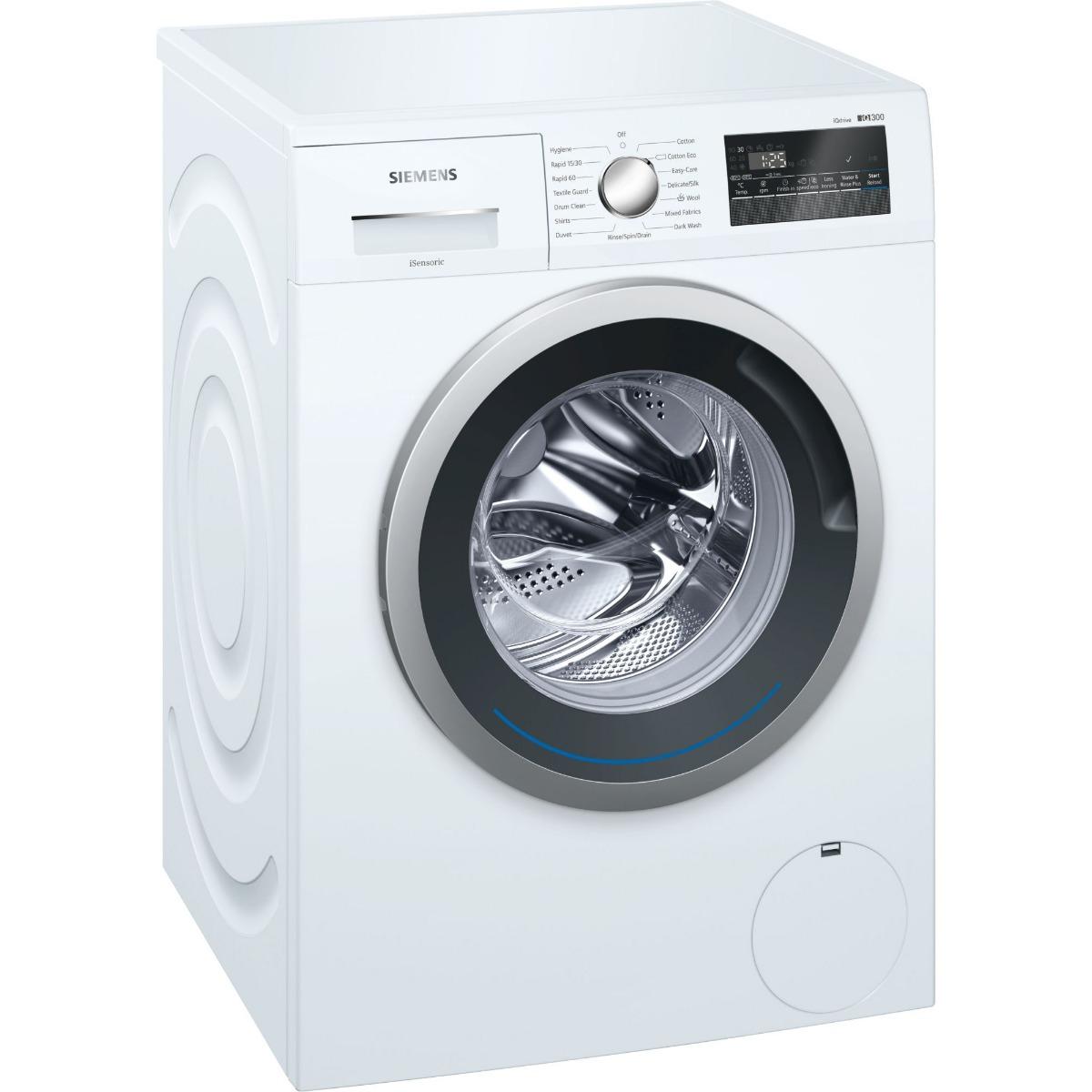 Siemens iQ300 WM14N201GB Washing Machine Freestanding 8kg A+++ White