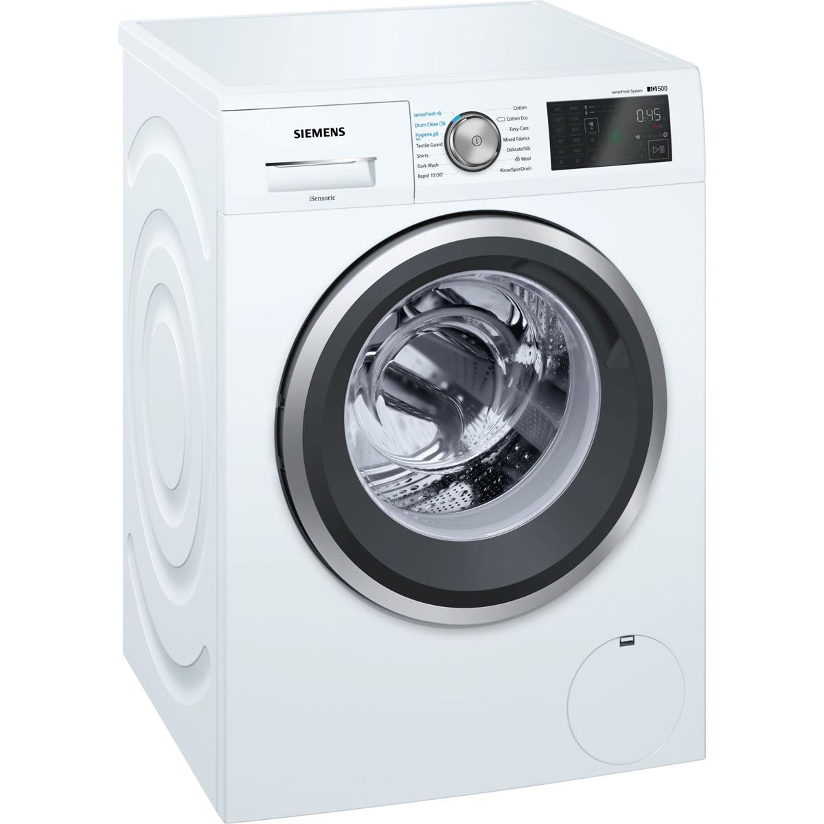 Siemens iQ500 WM14T790GB Washing Machine Freestanding 9 kg A+++ White