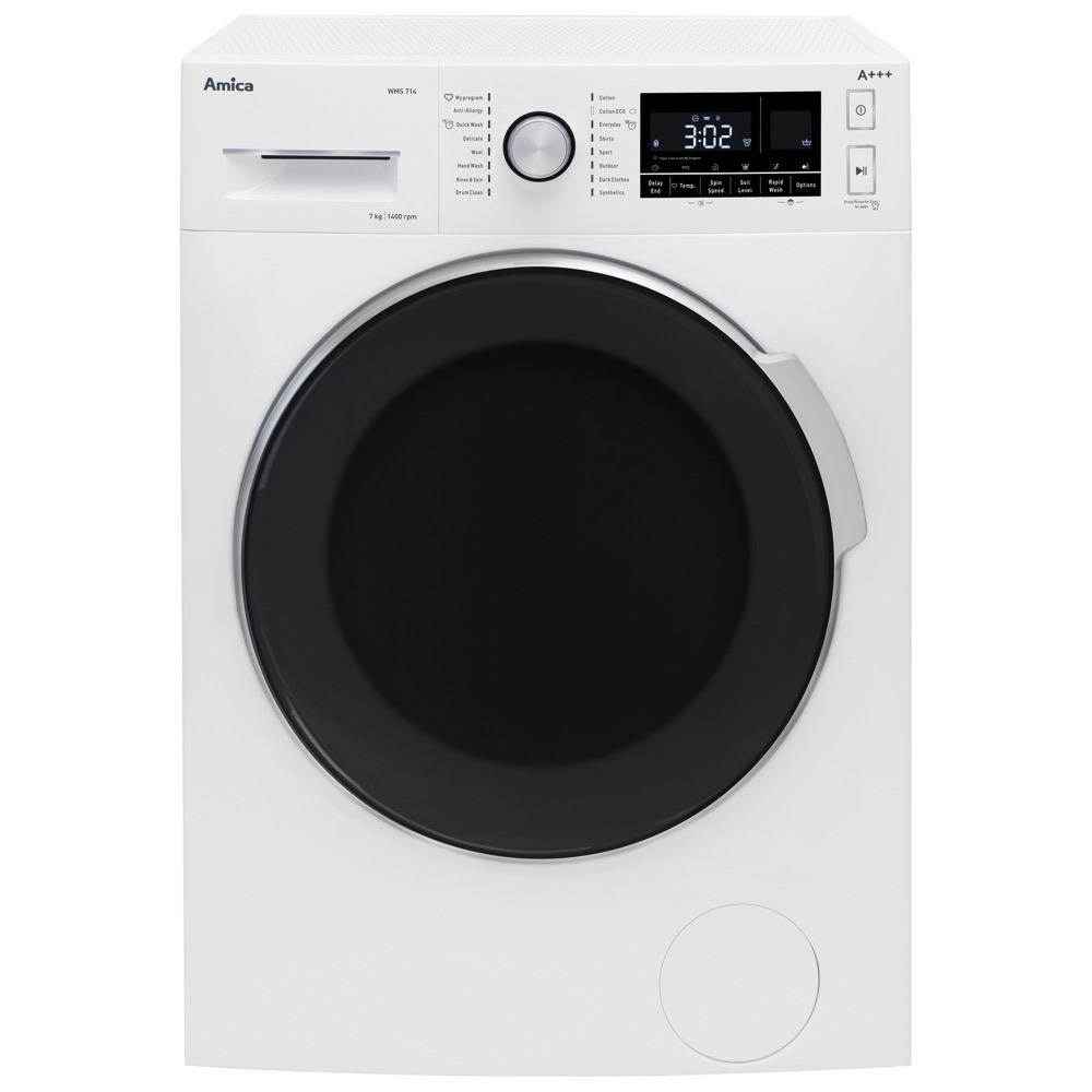 Amica WMS714 Washing Machine Freestanding 7kg 1400 RPM Spin A+++ White