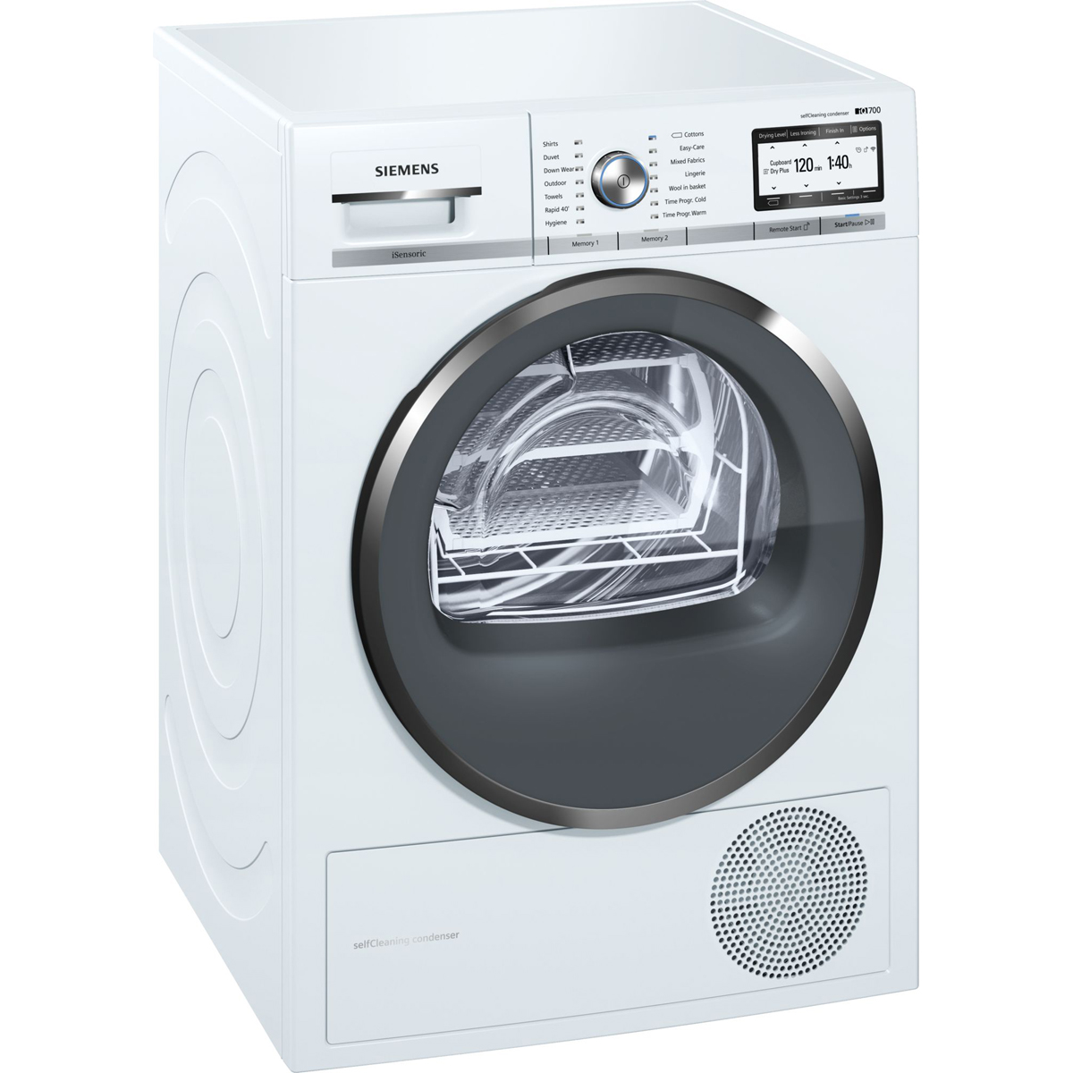 Siemens iQ700 WT4HY791GB Tumble Dryer Condenser 9 kg A++ White