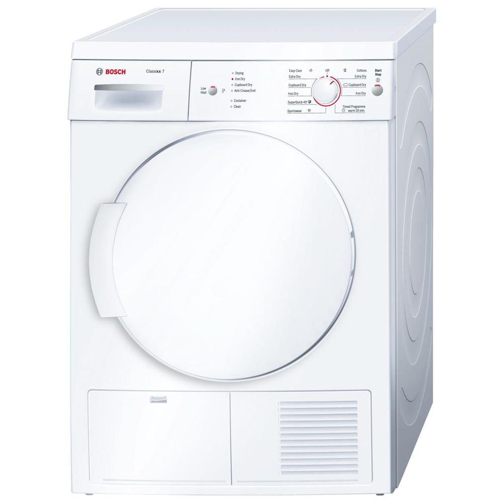 Bosch Serie 6 WTE84106GB Tumble Dryer Condenser Freestanding 7kg White