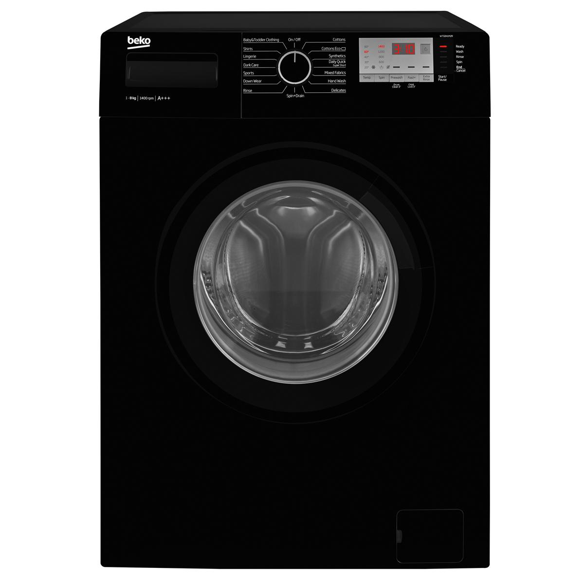 Beko WTG841M2B Washing Machine Freestanding 1400rpm 8kg A+++ Black
