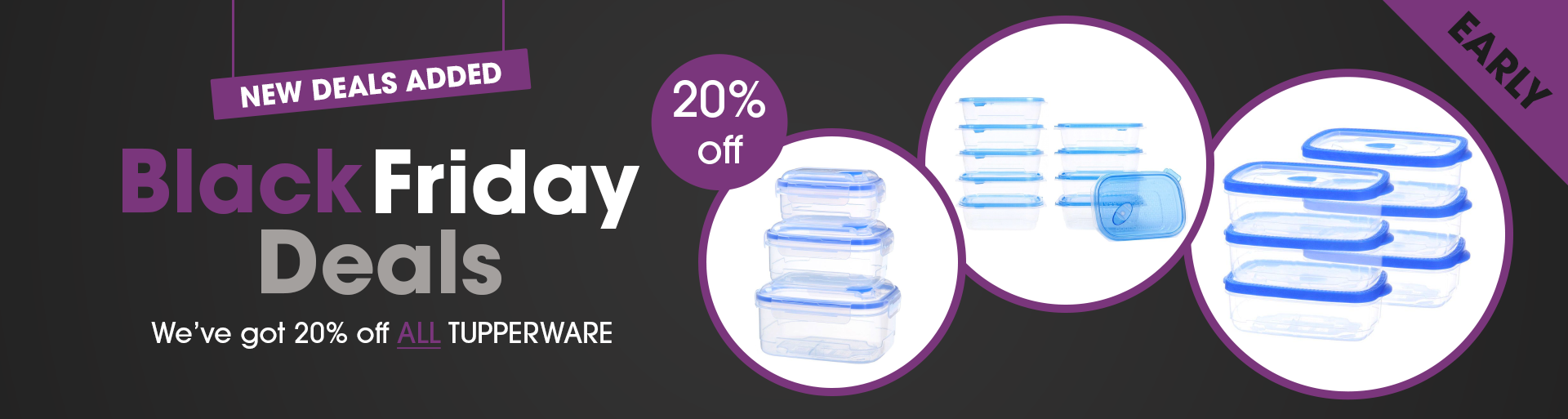 Early Black Friday Tupperware Deals